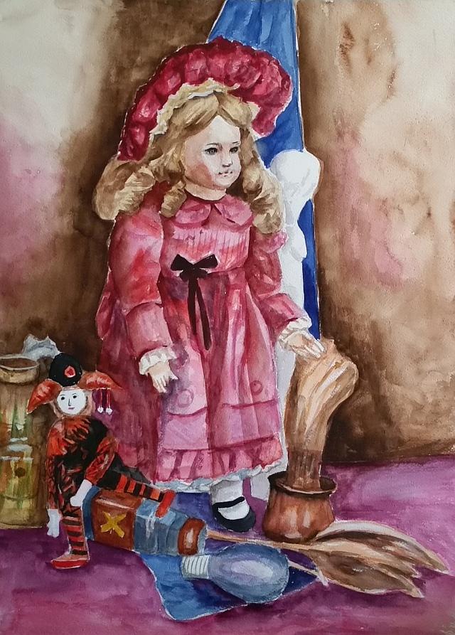 西洋人形と静物rev